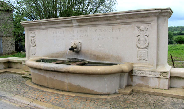 Quentin Roosevelt memorial fountain