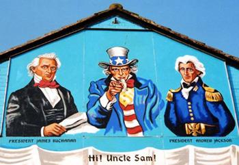 Uncle Sam mural